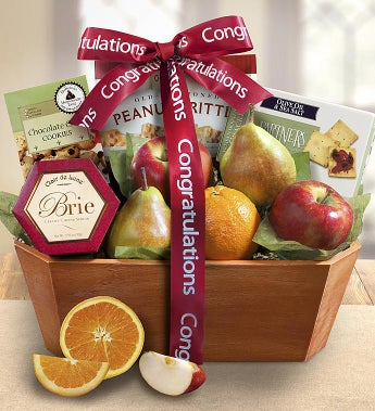 Congratulations From The Orchard Fruit Gift Basket - Congratulations From The Orchard Fruit Gift Basket