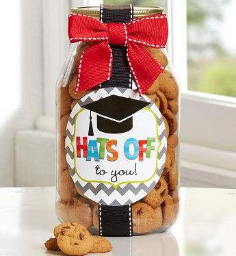 Hats Off To You, Grad! Chocolate Chip Cookie Jar-Hats Off To You, Grad! Chocolate Chip Cookie Jar
