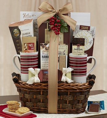 Coffee Gift Basket To Help Keep Them Fueled Throughout The Day Does Your Business Friend Enjoy Tea Rather Than Coffee Send A Tea Gift Basket Instead
