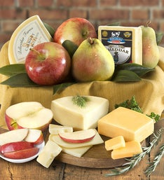 Fresh Fruit  Cheese Gourmet Basket  gluten free