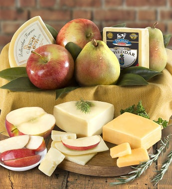 Fresh Fruit & Cheese Gourmet Basket - Gluten Free - Fresh Fruit & Cheese Gourmet Basket - Gluten Free