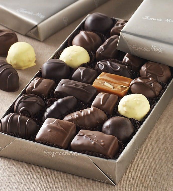 Fannie May Milk & Dark Asst Chocolates Gluten Free - Gift Basket Delivery