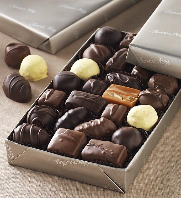 Fannie May Milk & Dark Asst Chocolates Gluten Free-Fannie May Milk & Dark Asst Chocolates Gluten Free