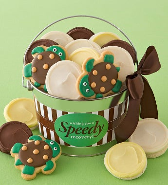 Cheryl's Speedy Recovery Gift Pail - Cheryl's Speedy Recovery Frosted Cookie Pail