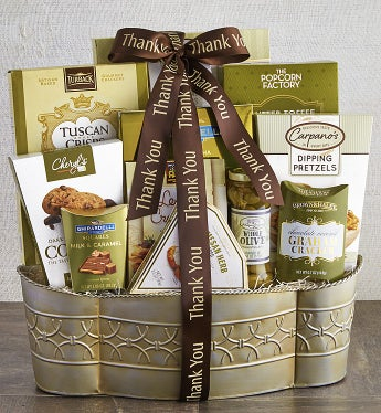 With Grateful Thanks Gourmet Gift Basket - With Grateful Thanks Gourmet Gift Basket