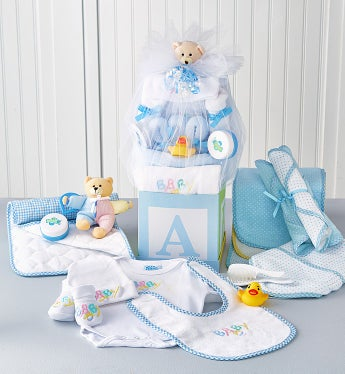 B-Is-For-Baby Boy Gift Block - B-Is-For-Baby Boy Gift Block-Deluxe