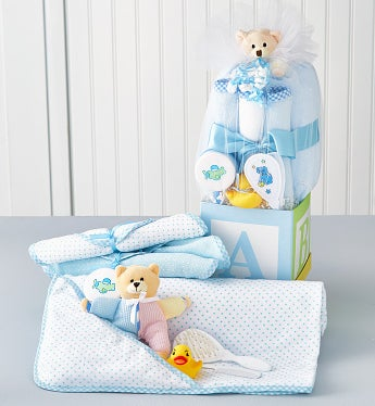 B-Is-For-Baby Boy Gift Block - B-Is-For-Baby Boy Gift Block-Large