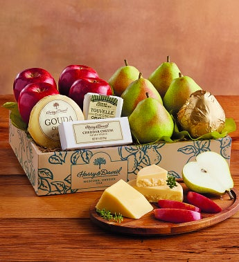 Harry And David® Pears, Apples & Cheese Gift-Pears, Apples & Cheese Gift - Deluxe