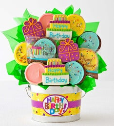 Cheryl's Happy Birthday Cookie Flower Pot 12ct