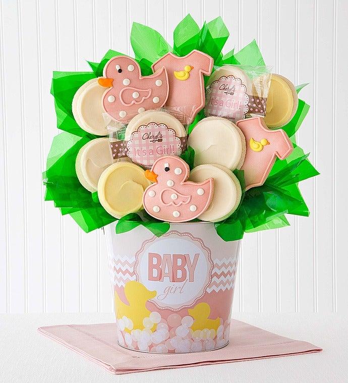 Cheryl's Baby Girl Cookie Flower Pot - 12Ct - Cheryl's Baby Girl Cookie Flower Pot - 12Ct