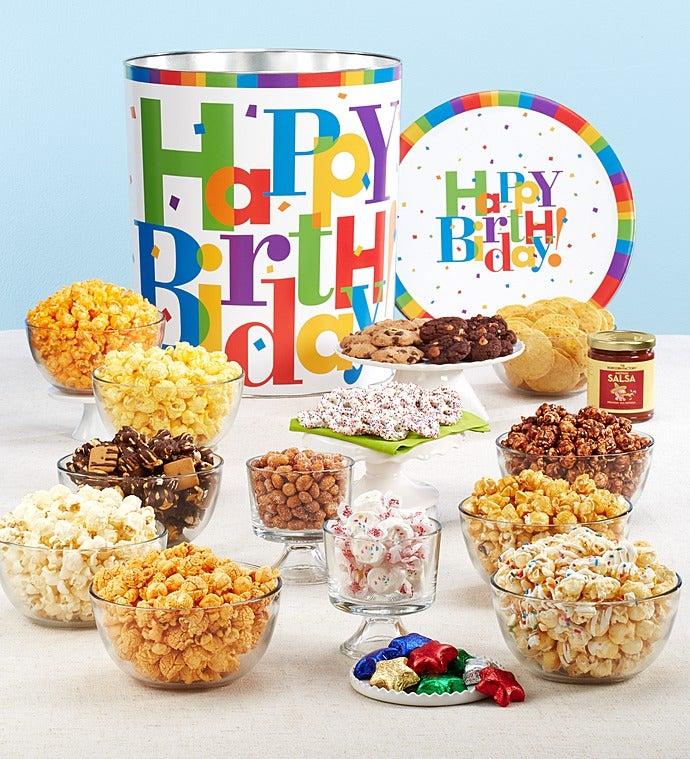 Popcorn Factory Big Birthday Deluxe Snack Tin-Popcorn Factory Big Birthday Deluxe Snack Tin