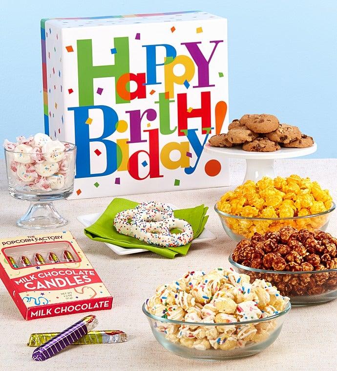 The Popcorn Factory Big Birthday Sampler Box-The Popcorn Factory Big Birthday Sampler Box