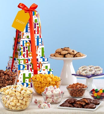 The Popcorn Factory Big Birthday Tower-The Popcorn Factory Big Birthday Tower - 7 Tier
