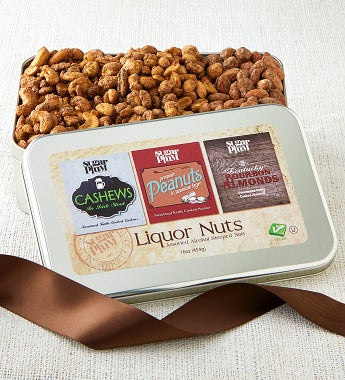 Trio Of Liquor Nuts In Gift Tin - Trio Of Liquor Nuts In Gift Tin