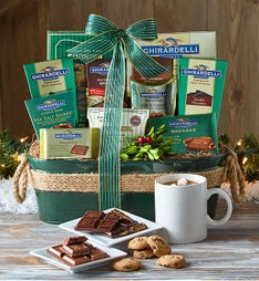 Classic Ghirardelli® Holiday Gift Basket