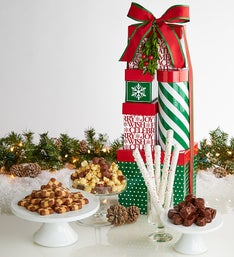 Be Merry Deluxe Chocolates Sweets Tower