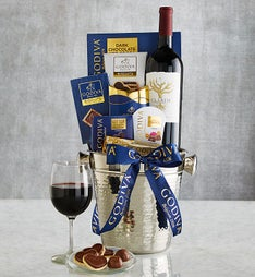 Cheers to Godiva! Chocolates & Wine Gift Chiller