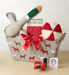 Dog Print Toy Basket