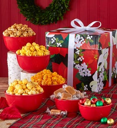 The Popcorn Factory Winter Floral Snack In The Box