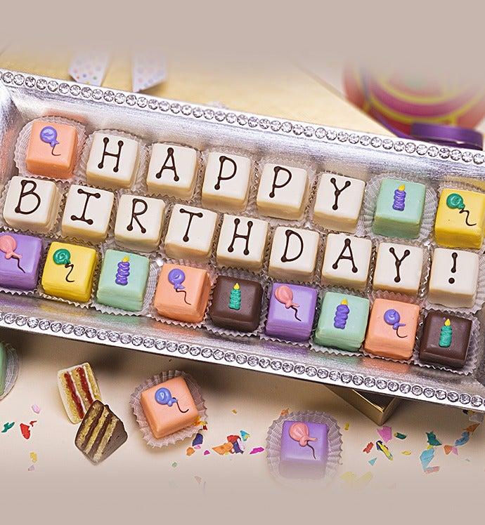 Happy Birthday Petits Fours  ct