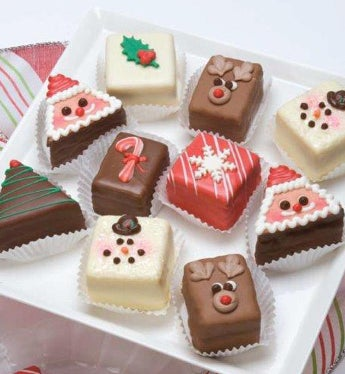 Decadent Holiday Petits Fours - Holiday Petits Fours - Deluxe Classic 12Ct