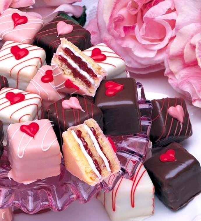 Decadent Valentine Petits Fours - Decadent Valentine Petits Fours - Demitasse 36Ct