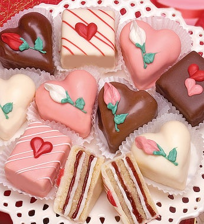 Decadent Valentine Petits Fours - Decadent Valentine Petits Fours - Classic 12Ct