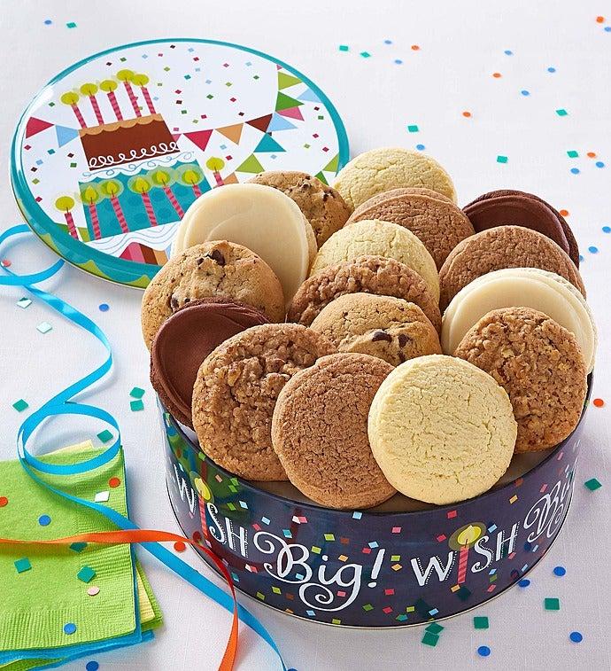 Cheryl's Musical Birthday Gift Tin-16Ct Sugar Free - Cheryl's Musical Birthday Gift Tin-16Ct Sugar Free