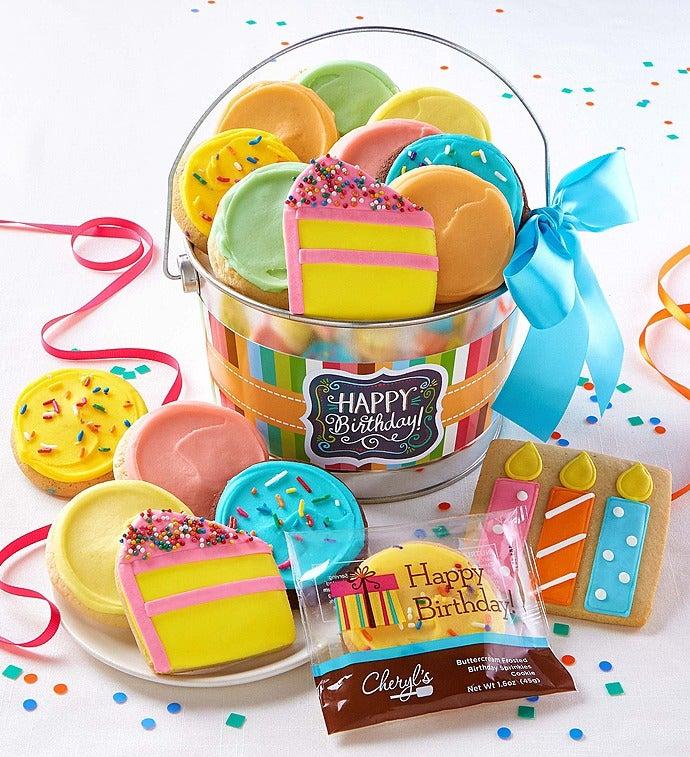 Cheryl's Wish Big! Birthday Gift Pail - Wish Big! Birthday Buttercream Cookie Pail