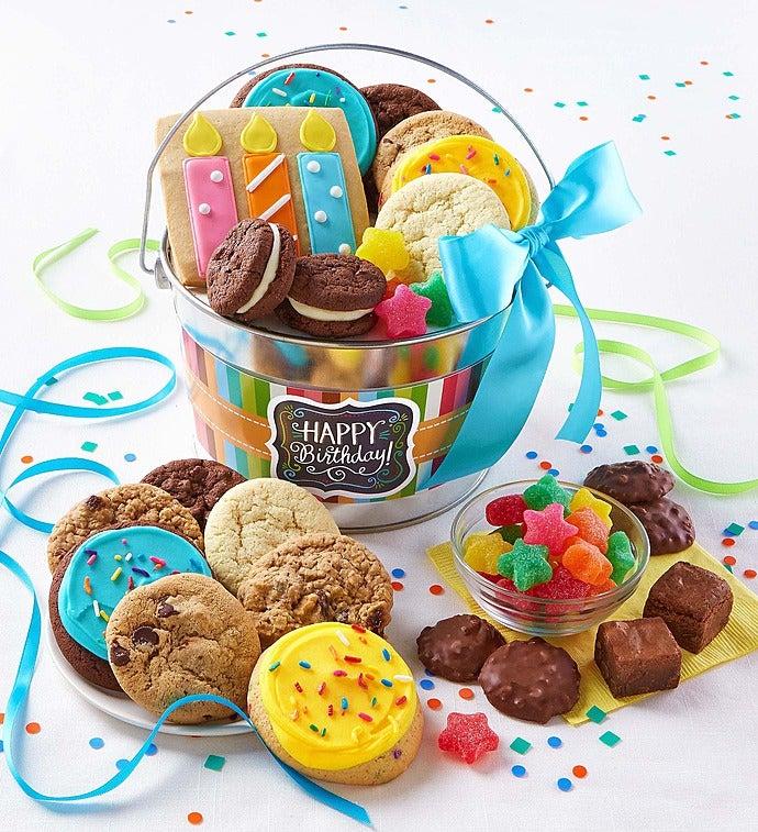 Cheryl's Wish Big! Birthday Gift Pail - Wish Big! Birthday Gift Pail With Treats
