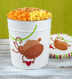 The Popcorn Factory Monkey Love 3 Flavor Tin