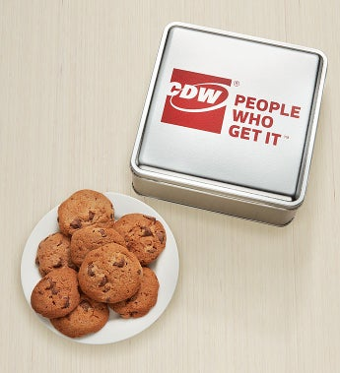 Cdw 7Oz Choc Choc Crunchy Cookies Tin - Cdw 7Oz Choc Choc Crunchy Cookies Tin