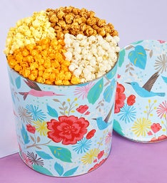 Popcorn Factory Hummingbird Garden 4 Way Tin