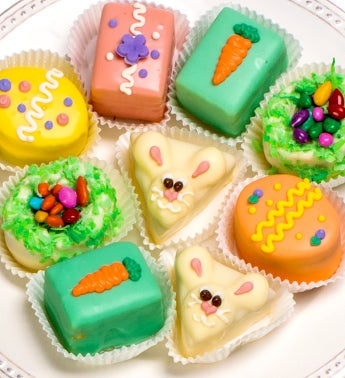 Happy Easter Petits Fours - Classic 12Ct - Happy Easter Petits Fours - Classic 12Ct