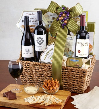 The Entertainer Premium Wine Gift Basket - The Entertainer Premium Wine Gift Basket