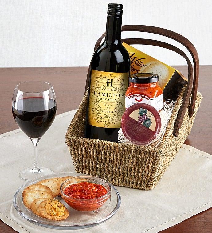 Merlot Wine Country Escape Gift Basket - Merlot Wine Country Escape Gift Basket