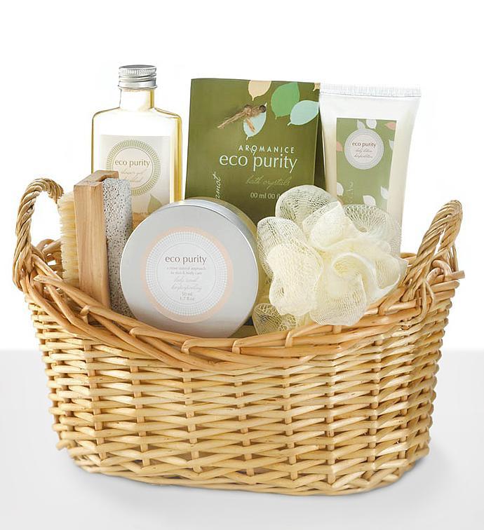 Green Tea And Bergamot Spa Gift Basket - Green Tea And Bergamot Spa Gift Basket
