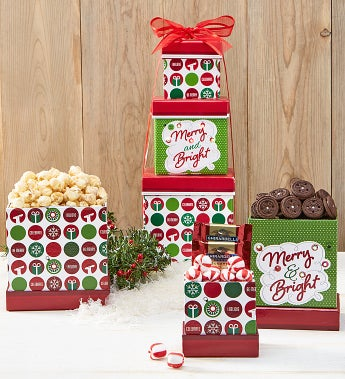 Merry & Bright Sweets Gift Tower
