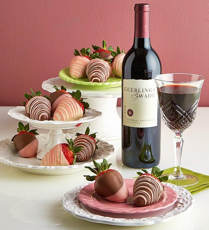 Valentine Strawberries & Cabernet Sauvignon Wine - Valentine Strawberries & Cabernet Sauvignon Wine
