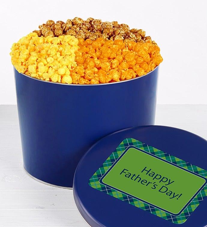 Popcorn Factory Father's Day 4 Way Tin - Popcorn Factory Father's Day 4 Way Tin