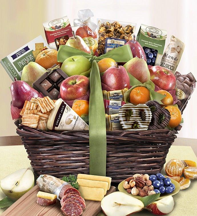 Distinctive Fruit & Sweets Gift Basket Deluxe