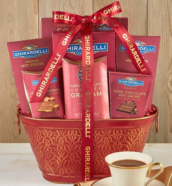 Classic Ghirardelli Gift Basket - Classic Ghirardelli Gift Basket - Deluxe