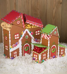 Festive Holiday House Sweets & Treats Gift