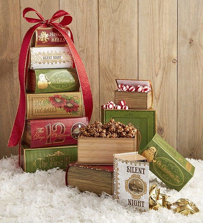 Holiday Treasured Treats Gift Tower - Holiday Treasured Treats Gift Tower