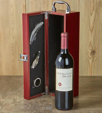 Cabernet Wine Gift Box With Accessories- Cabernet Wine Gift Box With Accessories