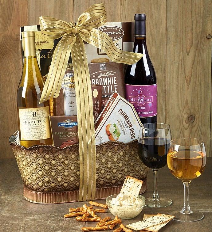Toast & Celebrate Wine Gift Basket - Toast & Celebrate Wine Gift Basket