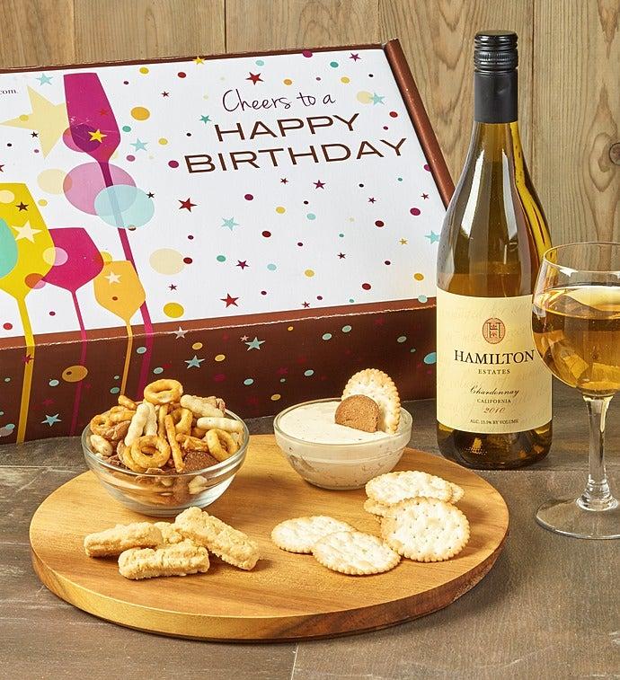 Happy Birthday! White Wine And Gourmet Box - Happy Birthday! White Wine And Gourmet Box