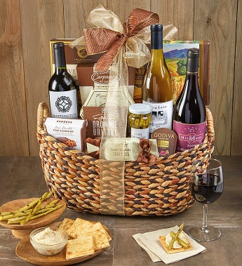The Entertainer Wine Gift Basket - The Entertainer Wine Gift Basket