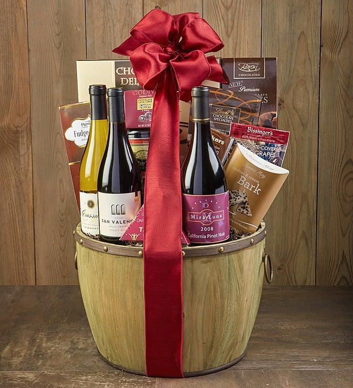 Heritage Cellars Wine Trio Gift Basket - Heritage Cellars Wine Trio Gift Basket