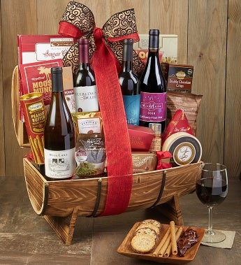 The Classic Collection Wine Gift Basket - The Classic Collection Wine Gift Basket